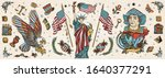 united states of america. old... | Shutterstock .eps vector #1640377291