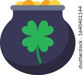 pot of luck   gambling icon set....