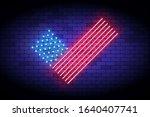 vote america  neon vector... | Shutterstock .eps vector #1640407741
