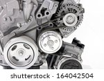 car engine part | Shutterstock . vector #164042504