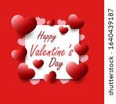happy valentine's day concept...   Shutterstock .eps vector #1640439187