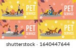 dog sitters  professional dog... | Shutterstock .eps vector #1640447644
