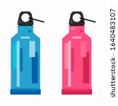 stylized sport bottle  flat... | Shutterstock .eps vector #1640483107