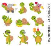 Turtle Child. Cute Little Green ...