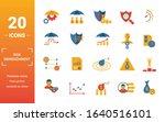 risk management icon set.... | Shutterstock .eps vector #1640516101
