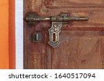 Vintage Bronze Door Hasp....