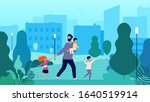 single father. lonely man... | Shutterstock .eps vector #1640519914