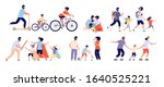 family spend time together.... | Shutterstock .eps vector #1640525221