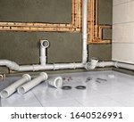 process of changing pipes in... | Shutterstock . vector #1640526991