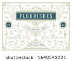 vintage ornaments swirls and... | Shutterstock .eps vector #1640543221