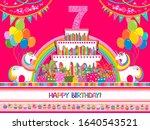 happy birthday greeting card.... | Shutterstock .eps vector #1640543521