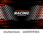 Checkered Racing Flag Speed...