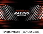 checkered racing flag speed... | Shutterstock .eps vector #1640559301