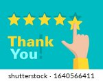 thank you for 5 stars rated... | Shutterstock .eps vector #1640566411