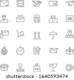 line icons set. post service... | Shutterstock .eps vector #1640593474