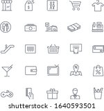 line icons set. mall pack.... | Shutterstock .eps vector #1640593501