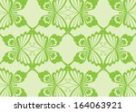 green butterfly pattern design  | Shutterstock .eps vector #164063921