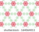 snowflake on white background  | Shutterstock .eps vector #164064011