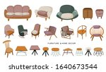 stylish scandinavian living... | Shutterstock .eps vector #1640673544