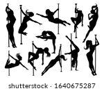 a set of women pole dancers... | Shutterstock . vector #1640675287