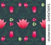 Vintage Floral Pattern In Art...