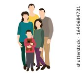 family  flat style  no face | Shutterstock .eps vector #1640684731