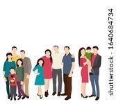 isolated  silhouette family ... | Shutterstock .eps vector #1640684734