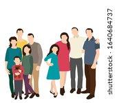 isolated  silhouette family ... | Shutterstock .eps vector #1640684737