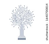 abstract circuit tree...   Shutterstock .eps vector #1640700814