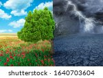 ecological concept with tree... | Shutterstock . vector #1640703604