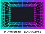 vaporwave retro futuristic... | Shutterstock .eps vector #1640703961
