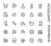 icon set   science icon outline ... | Shutterstock .eps vector #1640709124