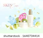 bottle for cosmetic lotion and... | Shutterstock .eps vector #1640734414