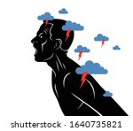 anger  aggression and psychosis ... | Shutterstock .eps vector #1640735821