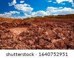 aluminium ore quarry. bauxite... | Shutterstock . vector #1640752951
