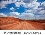 bauxite clay open cut mining. a ... | Shutterstock . vector #1640752981