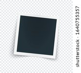 rotated photo frame with shadow ...   Shutterstock .eps vector #1640755357