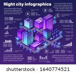 isometric neon city... | Shutterstock .eps vector #1640774521