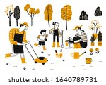 activity of people in the... | Shutterstock .eps vector #1640789731