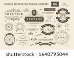 vintage typographic design... | Shutterstock .eps vector #1640795044