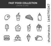 fast food collection linear...   Shutterstock .eps vector #1640795347