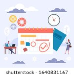 planner schedule tasking...   Shutterstock .eps vector #1640831167