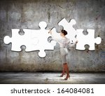 image of businesswoman... | Shutterstock . vector #164084081