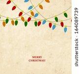 vintage christmas card | Shutterstock .eps vector #164089739