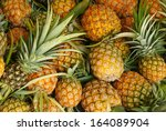 a lot of pineapple fruit... | Shutterstock . vector #164089904
