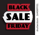 black friday sale design | Shutterstock .eps vector #164089931
