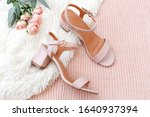 Women's Pink Heeled Sandals And ...
