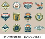 set collection vintage colorful ... | Shutterstock .eps vector #1640964667