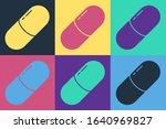 pop art medicine pill or tablet ... | Shutterstock .eps vector #1640969827