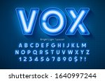 neon light 3d alphabet  extra... | Shutterstock .eps vector #1640997244